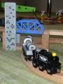 Dřevěné vláčky - inspirace Další detail zvedací most + nákladní souprava Maxim