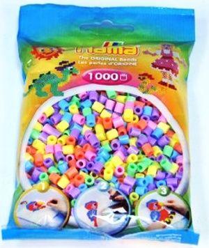 HAMA, Zažehlovací korálky - 1000 ks mix pastelové