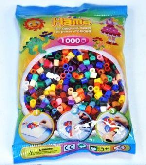 HAMA, Zažehlovací korálky - 1000 ks mix základní barvy