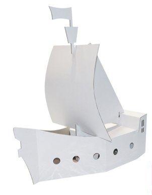 Kartonový svět - papírový model pirátská loď