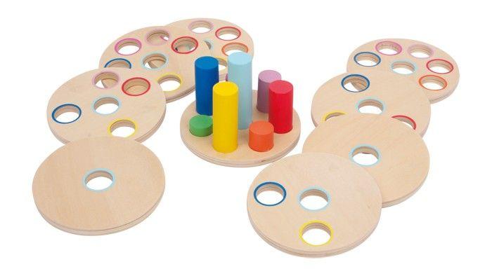 Logická nasouvací hra - kroužky Logisteck Legler