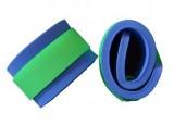Nadlehčovací rukávky - modré (zelený zip neon)