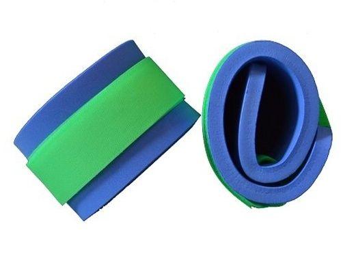 Nadlehčovací rukávky - modré (zelený zip neon) DENA