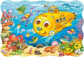 Puzzle 30 dílků - Ponorka Castor