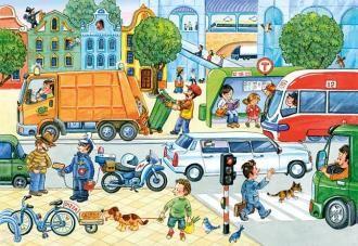 Puzzle 60 dílků - Ulice Castor