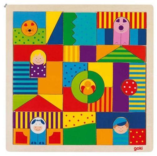 Skládačka kostičky - Farma GOKI
