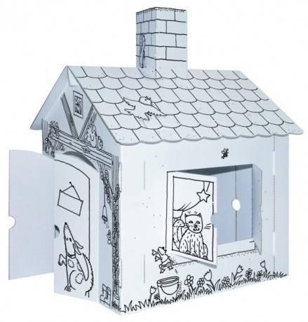 Domeček pro panenky kartonový předmalovaný