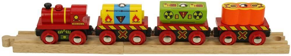 BigJigs, Nákladní vlak nebezpečné zboží - dřevěné vláčky BIGJIGS