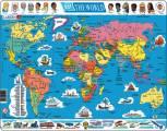 puzzle MAPA SVĚTA (politická) - v angličtině