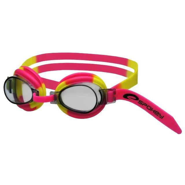Dětské plavecké brýle JELLYFISH - růžovo-žluté Spokey