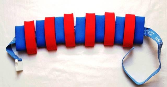 Pás na plavání 13 dílků (modro-červený) - plavecké pomůcky Aronet