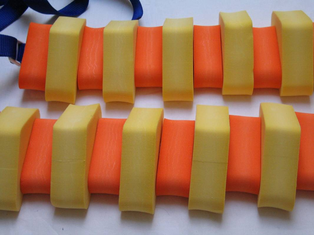 PLAVECKÝ PÁS 130 cm - žlutá-oranžová DENA