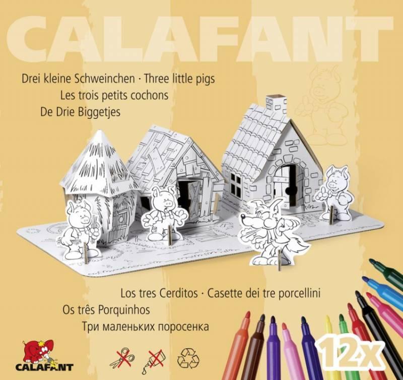 Tři malá prasátka - kartonové modely CALAFANT