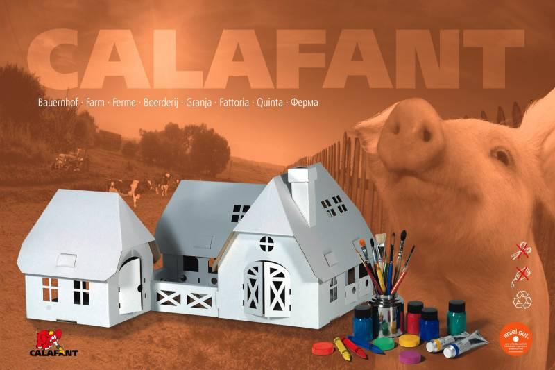 CALAFANT Farma velká - kartonová skládačka