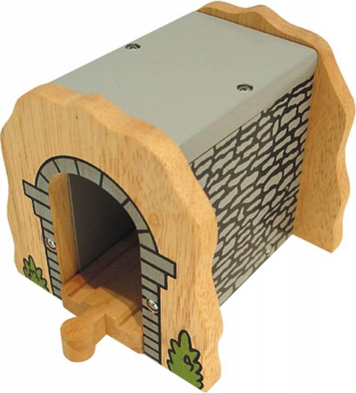 BigJigs Dřevěné vláčky - Šedý tunel