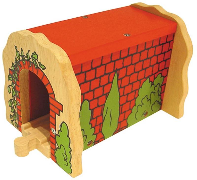 BigJigs, Červený tunel - dřevěné vláčky BIGJIGS