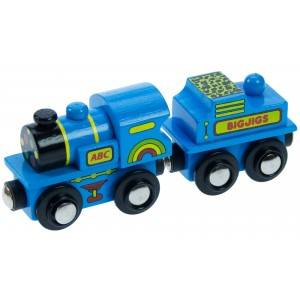BigJigs Modrá mašinka - dřevěné vláčky