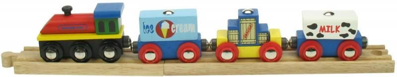 BigJigs Nákladní vlak - dřevěné vláčky