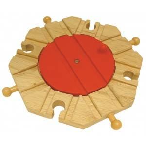 BigJigs Točna s 8 výjezdy - dřevěné vláčky