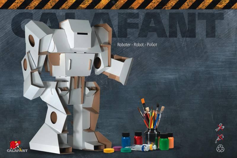 Robot - výška 52 cm - kartonové modely CALAFANT