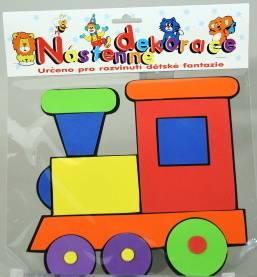 dětská dekorace velká - VLÁČEK