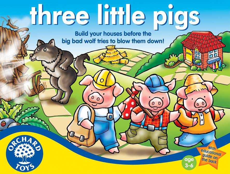 ORCHARD TOYS - hra TŘI MALÁ PRASÁTKA (Three Little Pigs)