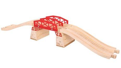 BigJigs Dvojitý most - dřevěné vláčkodráhy