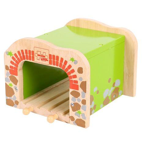 BigJigs Dvojitý tunel - dřevěné vláčkodráhy