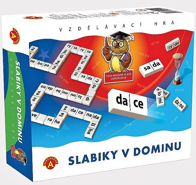 Didaktická hra - SLABIKY V DOMINU Alexander