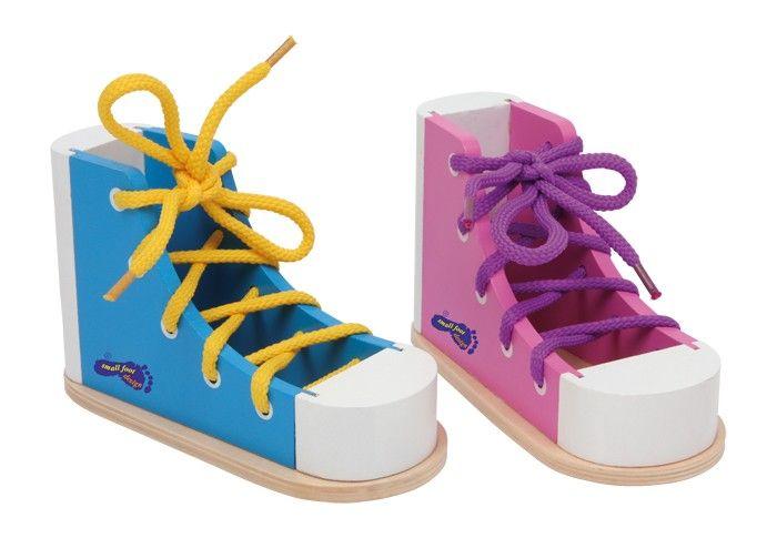 Dřevěná bota - zavazování tkaniček 2 ks