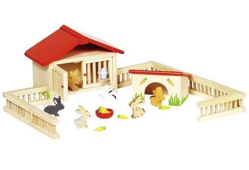 Dřevěná ohrada s králíčky GOKI