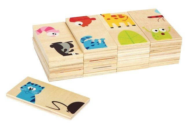 dřevěné domino XXL - Zvířátka (dílky 11 cm) Legler