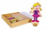 Dřevěné magnetky oblékání - holčička Ramona