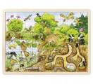 Dřevěné puzzle PŘÍRODA, 96 dílků 40 cm