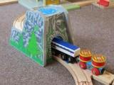 Dřevěné vláčky - inspirace detail Horský tunel