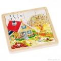 GOKI, Dřevěné puzzle 4 vrstvy - ROČNÍ OBDOBÍ