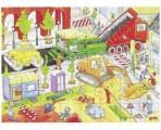 Dřevěné puzzle - NA STAVBĚ, 48 dílů