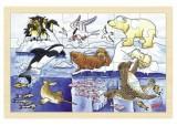 Dřevěné puzzle - POLÁRNÍ ZVÍŘATA, 24 dílků
