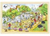 Dřevěné puzzle - ZOO, 24 dílků
