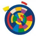 Kruhové puzzle - mozaika