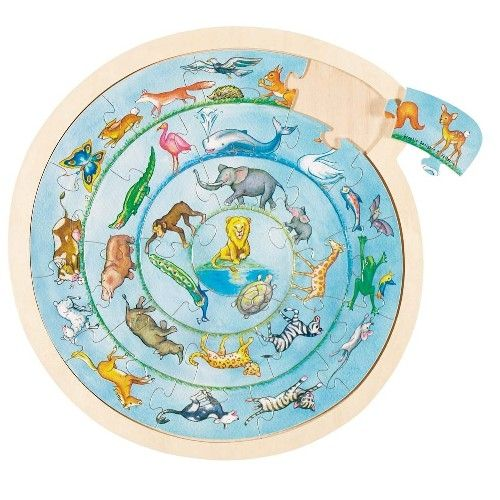 Kruhové puzzle - Zvířátka GOKI