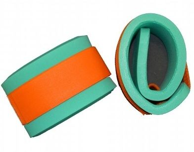 Nadlehčovací rukávky - zelené s oranžovým DENA
