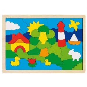 Netradiční dřevěné puzzle - Maják GOKI