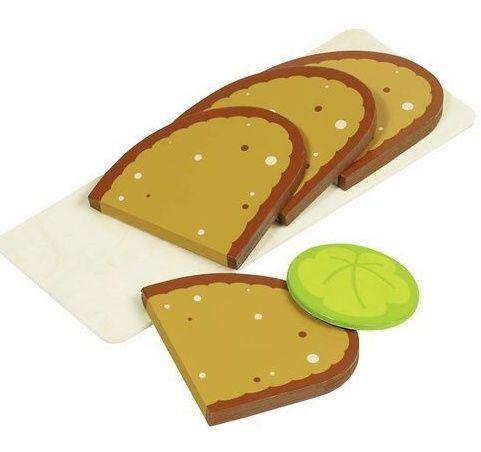 Plátky chleba dřevěné - sada 5 ks GOKI