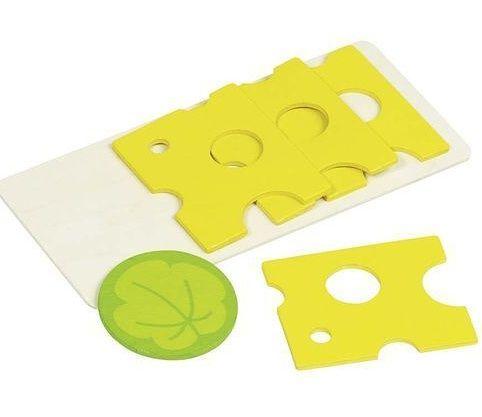 Plátky sýru dřevěné - sada 5 ks GOKI
