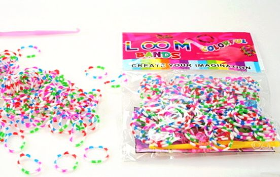 sada gumičky pletení Loom Bandz - ŽÍHANÉ