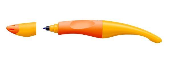 školní ergonomické pero STABILO + 3 NÁPLNĚ - oranžové