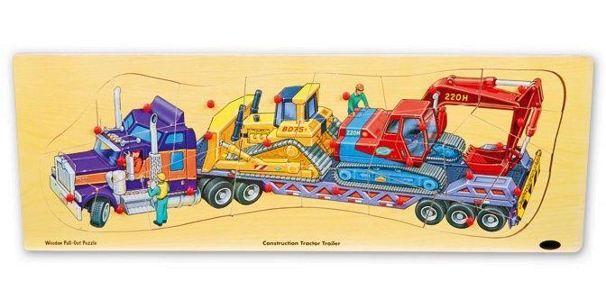Velké dřevěné puzzle 60 cm - NÁKLADNÍ AUTO