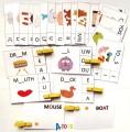 výukové kartičky - NEÚPLNÁ SLOVA S KOLÍČKY (angličtina)