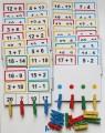 Výukové kartičky Oskola - Sčítání a odečítání s kolíčky